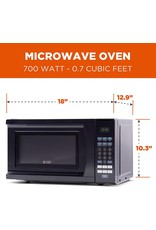 Commercial CHEF Commercial Chef CHM770B Countertop Microwave, 0.7 Cubic Feet, Black