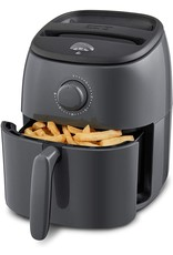 DASH Dash DCAF200GBGY02 Tasti Crisp Electric Air Fryer Oven Cooker with Temperature Control, Non-stick Fry Basket, Recipe Guide + Auto Shut Off Feature, 1000-Watt, 2.6Qt, Grey