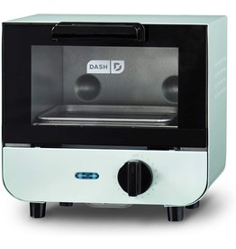 DASH Dash DMTO100GBAQ04 Mini Toaster Oven Cooker for Bread, Bagels, Cookies, Pizza, Paninis & More with Baking Tray, Rack, Auto Shut Off Feature, Aqua