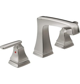 DELTA FAUCET Delta Faucet Ashlyn Widespread Bathroom Faucet Brushed Nickel, Bathroom Faucet 3 Hole, Diamond Seal Technology, Metal Drain Assembly, Stainless 3564-SSMPU-DST