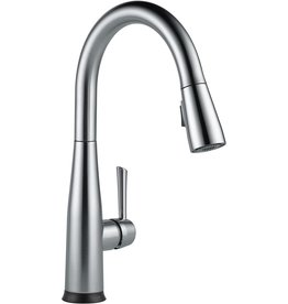 DELTA FAUCET Delta Faucet Essa Single-Handle Touch Kitchen Sink Faucet with Pull Down Sprayer, Touch2O Technology and Magnetic Docking Spray Head, Arctic Stainless 9113T-AR-DST