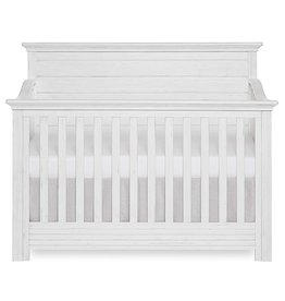 Evolur Evolur Waverly 5-in-1 Full Panel Convertible Crib in Weathered White, Greenguard Gold Certified
