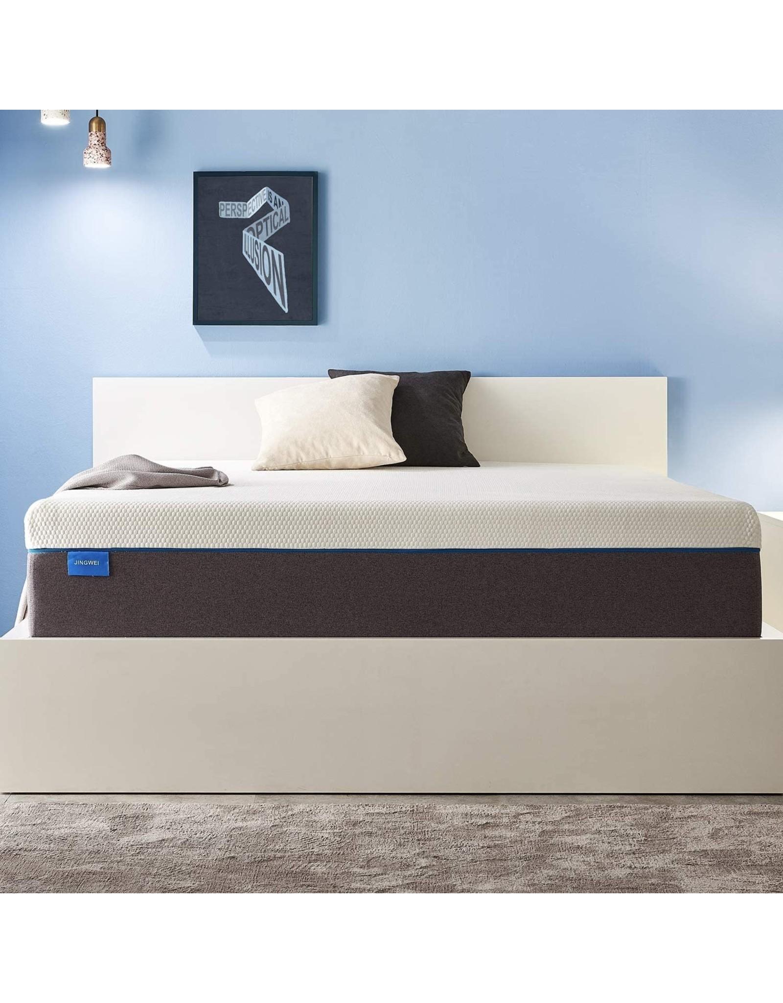 JINGWEI Full Size Mattress, JINGWEI 9 Inches Gel Memory Foam Mattress Bed in a Box, Certified Foam, Pressure Relief Supportive, Medium Firm, 54 X 75 X 9 inches