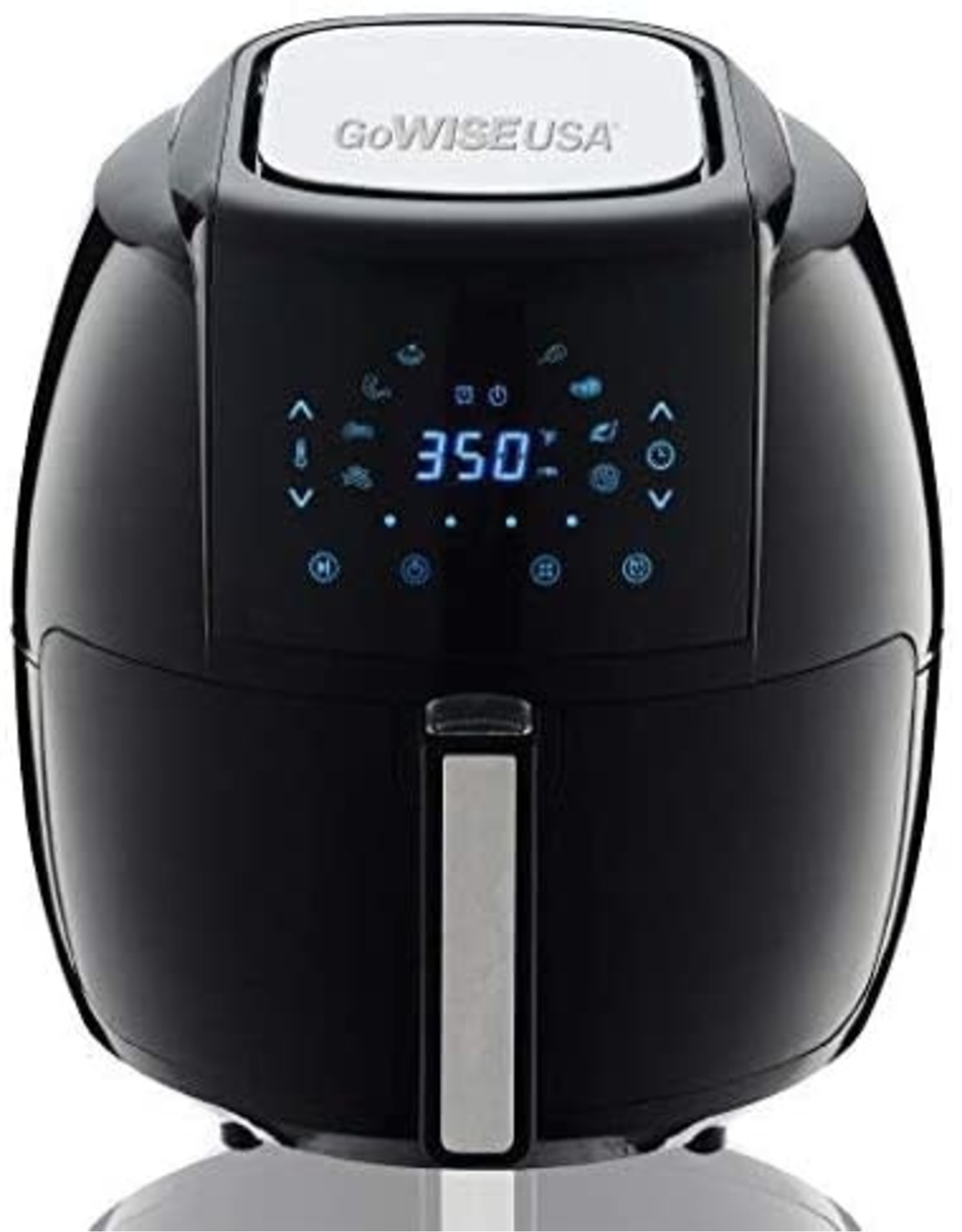 GoWISE USA GoWISE USA 1700-Watt 5.8-QT 8-in-1 Digital Air Fryer with Recipe Book, Black