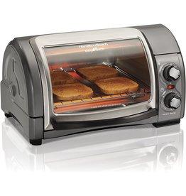 Hamilton Beach Hamilton Beach 31344D Easy Reach With Roll-Top Door Toaster Oven 4-Slice Silver