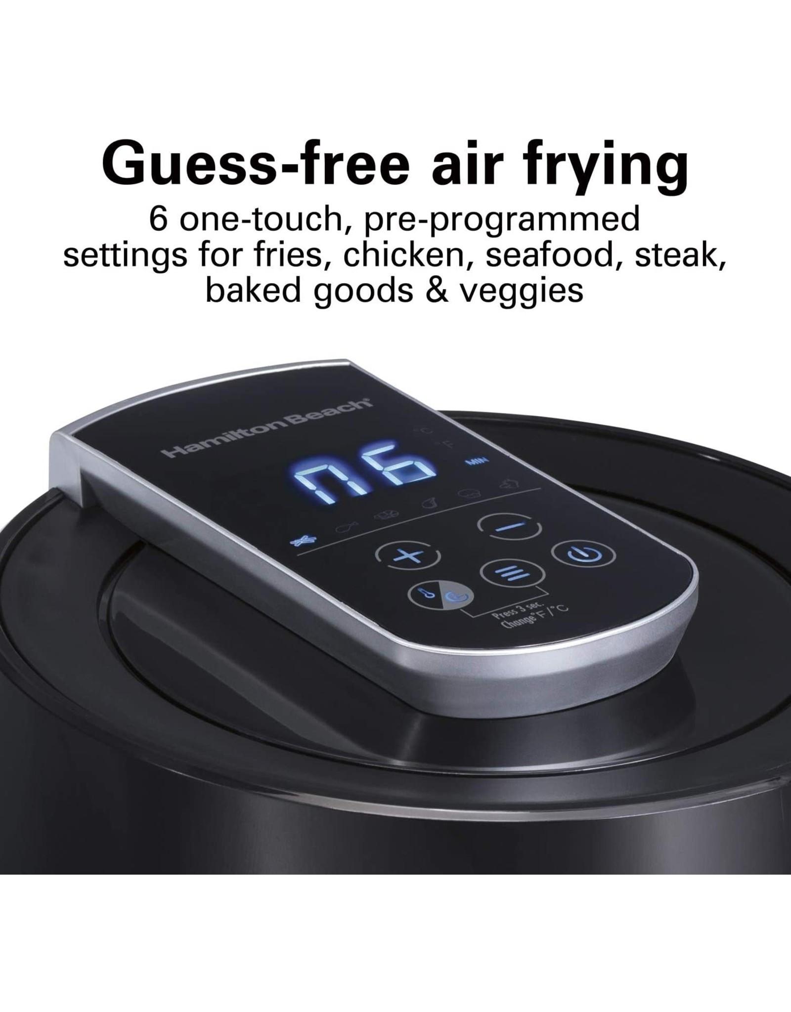 Hamilton Beach Hamilton Beach 35050 Digital Air Fryer Oven with 6 Presets, Easy to Clean Nonstick Basket, Black (35050)