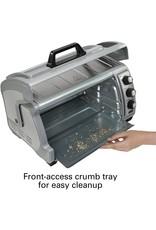 Hamilton Beach Hamilton Beach 6-Slice Countertop Toaster Oven with Easy Reach Roll-Top Door, Bake Pan, Silver (31127D)