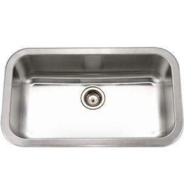 HOUZER Houzer MGS-3018-1 Medallion Gourmet Series Undermount Stainless Steel Large Single Bowl Kitchen Sink