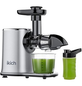 IKICH IKICH Juicer Machines 2 Speed Slow Masticating Juicer Easy to Clean, Quiet Motor, Reverse Function, Cold Press Juicer Machine with Portable Bottle, Brush and Recipes for Vegetables, Fruits