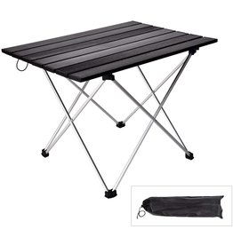 YU YUSING YU YUSING Portable Camping Table, 22 Inch x 16 Inch x 16 Inch Folding Aluminum Roll Up Camp Table with Carrying Bags for Outdoor Camping, Hiking, Picnic, Beach, Fishing, Backpacking, BBQ, RV