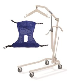 Invacare Invacare Painted Hydraulic Lift with Full Body R114 Mesh Sling  450 lbs. weight capacity  9805P model