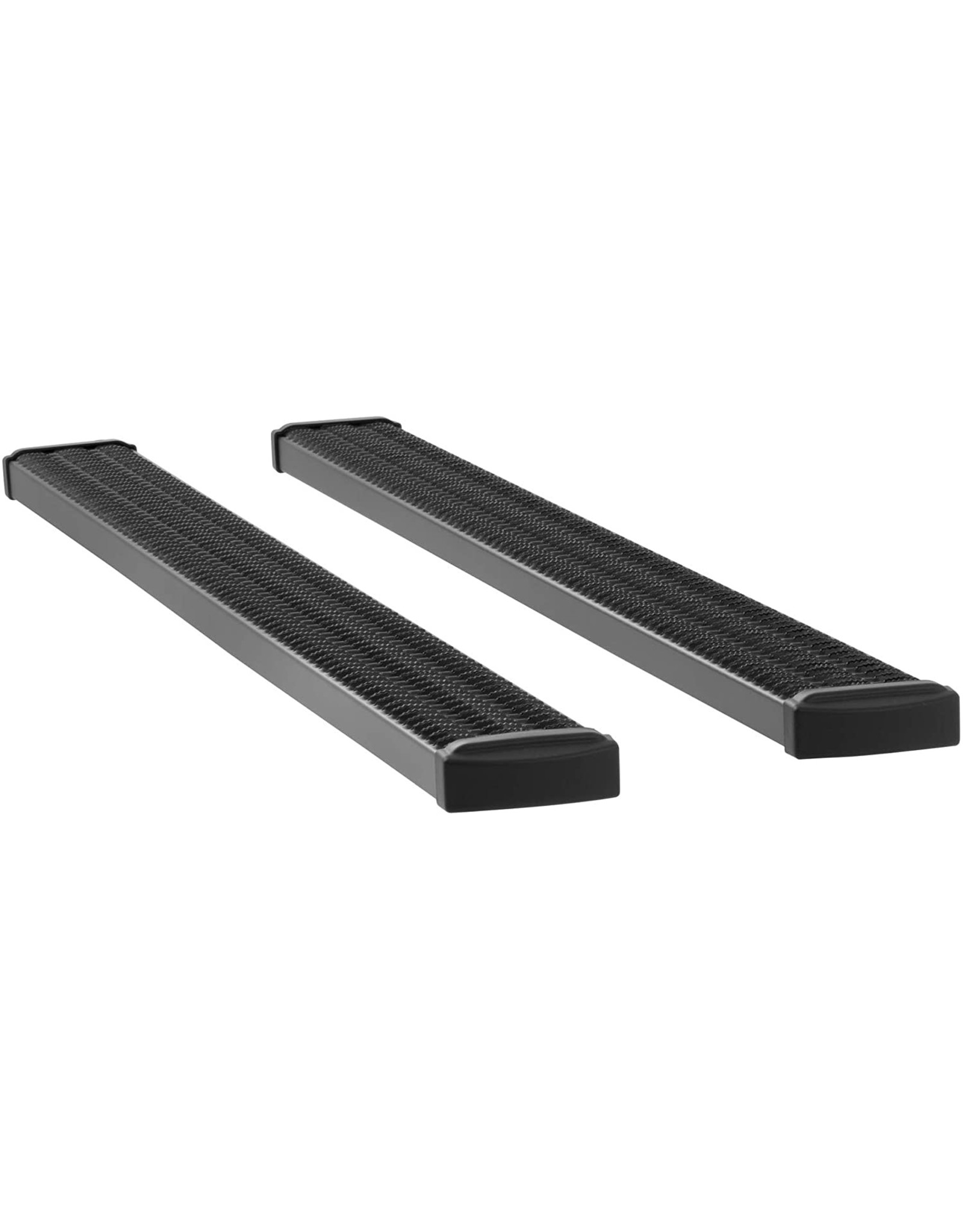LUVERNE LUVERNE 415088-400829 Grip Step Black Aluminum 88-In Wheel to Wheel Running Boards, Select Ford F-250, F-350 Super Duty