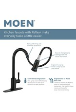 Moen Moen 7864EVBLS Sleek U by Moen Smart Pulldown Kitchen Faucet with Voice Control and MotionSense, Black Stainless