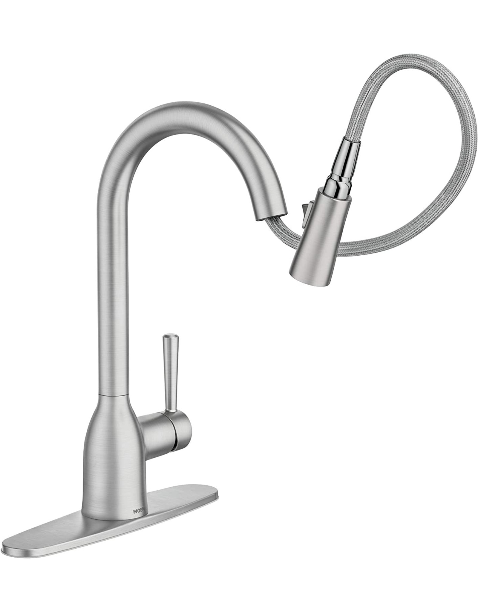 Moen Moen 87233SRS Adler One-Handle High Arc Pulldown Kitchen Faucet with Power Clean, Spot Resist Stainless