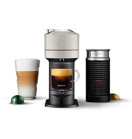 Breville Nespresso Vertuo Next Coffee and Espresso Machine with Aeroccino NEW by Breville, Light Grey, Single Serve Coffee & Espresso Maker, One Touch to Brew