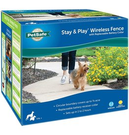 PetSafe PetSafe Stay & Play Wireless Fence with Replaceable Battery Collar for Dogs, 5.7 LB