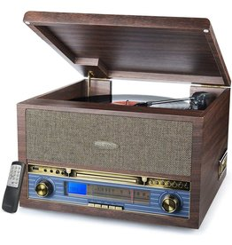 SeeYing Record Player Turntable Bluetooth 3-Speed Vinyl CD MP3 FM Radio USB Cassette Player with Speakers Vinyl to MP3 Recording LP Player, 13-in-1 Classic Wooden Turntable …