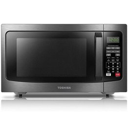 Toshiba Toshiba EM131A5C-BS Microwave Oven with Smart Sensor Easy Clean Interior, ECO Mode and Sound On-Off, 1.2 Cu. ft, Black Stainless Steel