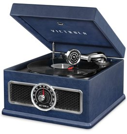 Victrola Victrola 5-in-1 Nostalgic Madison Bluetooth Record Player with CD, Radio, Record Storage and 3-Speed Turntable