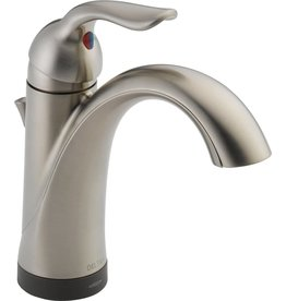 DELTA FAUCET Delta Faucet Lahara Single Hole Bathroom Faucet Brushed Nickel, Touchless Bathroom Faucet, Diamond Seal Technology, Drain Assembly, Stainless 538T-SS-DST