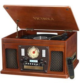Victrola Victrola Navigator 8-in-1 Classic Bluetooth Record Player with USB Encoding and 3-speed Turntable