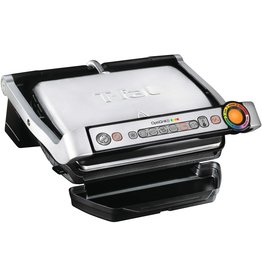 T-fal T-Fal GC7 Opti-Grill Indoor Electric Grill, 4-Servings, Automatic Sensor Cooking, Silver