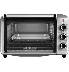 BLACK+DECKER Black+Decker TO3210SSD 6-Slice Convection Countertop Toaster Oven, Silver
