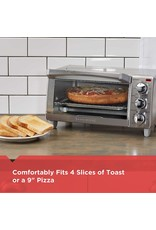 BLACK+DECKER BLACK+DECKER 4-Slice Toaster Oven with Natural Convection, Stainless Steel, TO1760SS