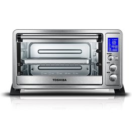 Toshiba Toshiba AC25CEW-SS Digital Toaster Oven with Convection Cooking and 9 Functions, 6-Slice Bread/12-Inch Pizza, Stainless Steel