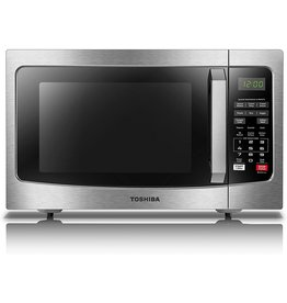 Toshiba Toshiba EM131A5C-SS Microwave Oven with Smart Sensor, Easy Clean Interior, ECO Mode and Sound On/Off, 1.2 Cu. ft, Stainless Steel