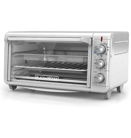 "BLACK+DECKER Black+Decker TO3265XSSD Extra Wide Crisp 'N Bake Air Fry Toaster Oven, Silver, Fits 9"" x 13"" Pan"