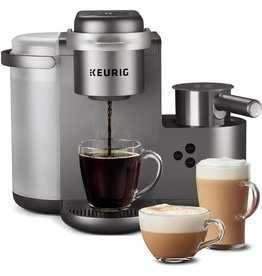 Keurig Keurig K-Cafe Special Edition Single Serve K-Cup Pod Coffee, Latte and Cappuccino Maker, Comes with Dishwasher Safe Milk Frother, Shot Capability, Nickel