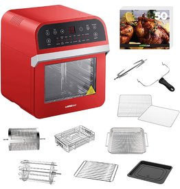 GoWISE USA GoWISE USA GW44801 Deluxe 12.7-Quarts 15-in-1 Electric Air Fryer Oven with Rotisserie and Dehydrator + 50 Recipes (Red), QT