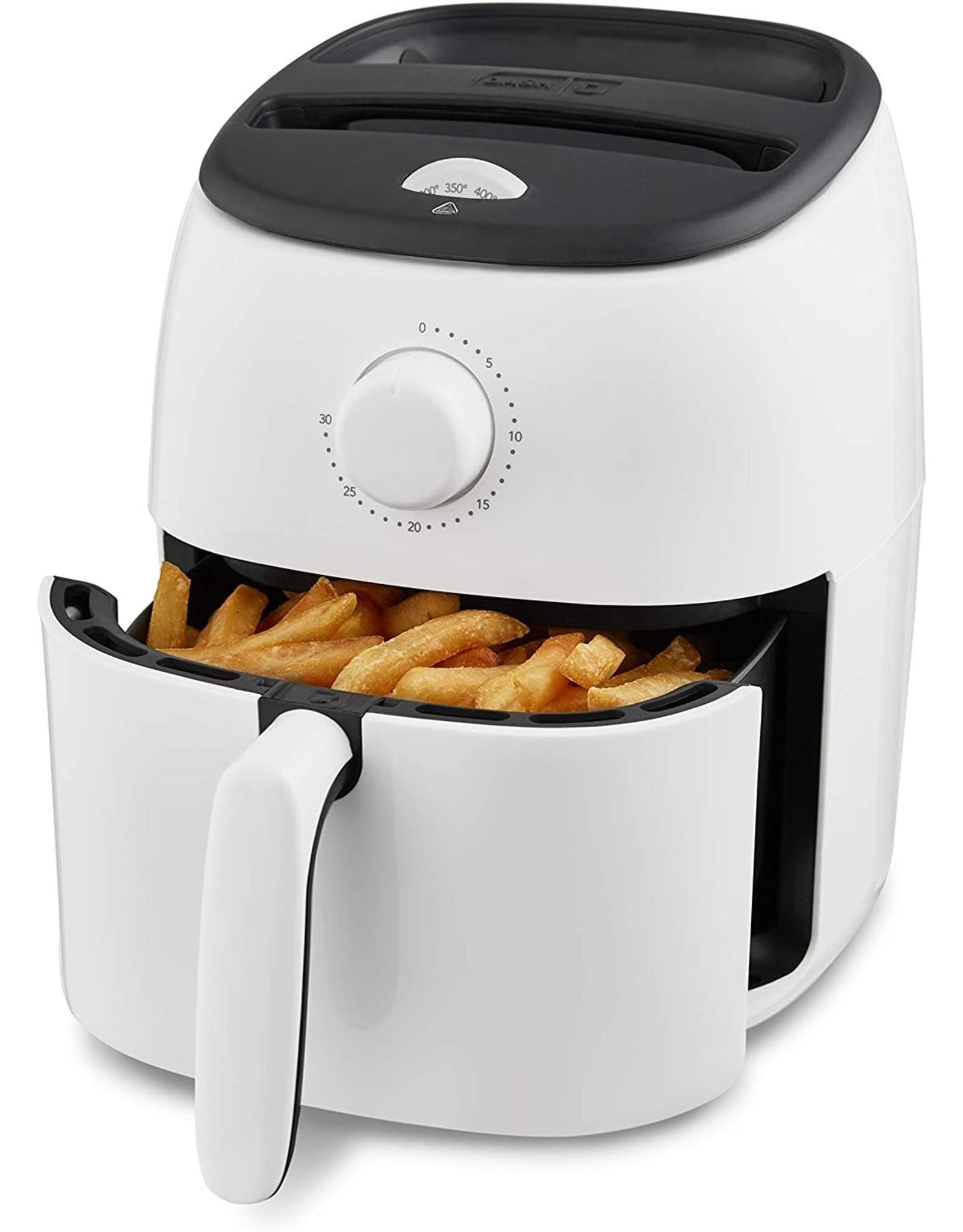 DASH Dash DCAF200GBWH02 Tasti Crisp Electric Air Fryer Oven Cooker with Temperature Control, Non-stick Fry Basket, Recipe Guide + Auto Shut Off Feature, 1000-Watt, 2.6Qt, White