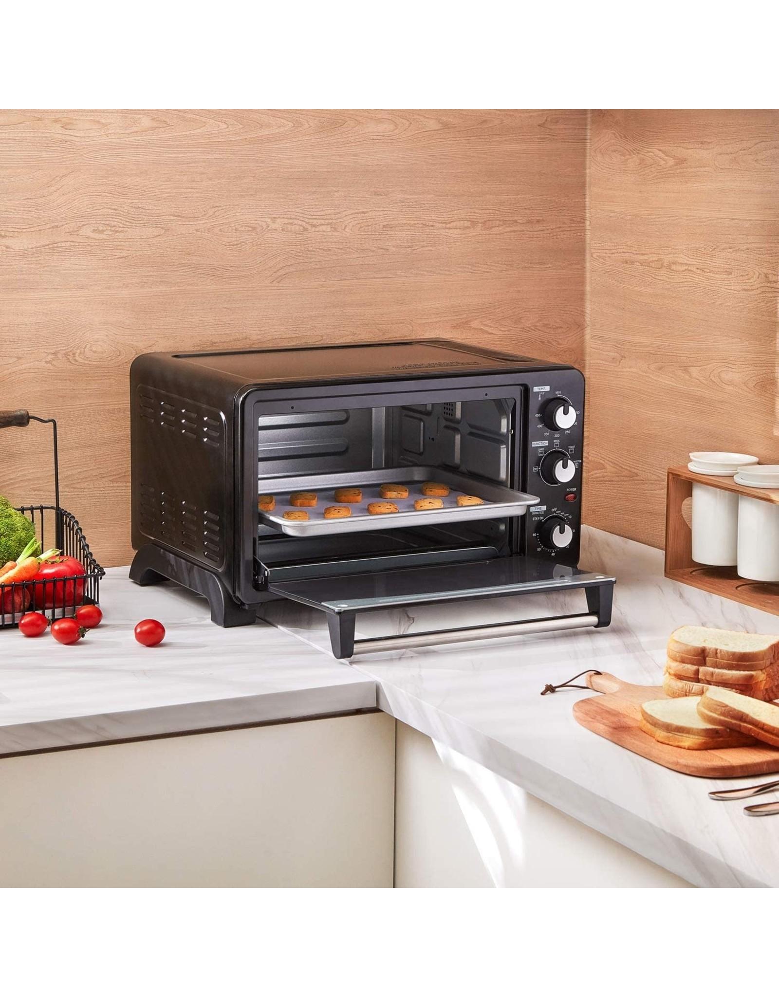 COMFEE' COMFEE' CFO-CC2501 Toaster Oven, 6-slice, Black