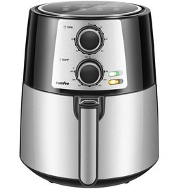 COMFEE' COMFEE' 3.7QT Electric Air Fryer & Oilless Cooker with 8 Menus and Timer & Temperature Control, Nonstick Fry Basket with Stainless Steel Finish, Auto Shut-off, 1400W, BPA & PFOA Free