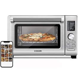COSORI COSORI CS125 Air Fryer Toaster Oven Combo 11-in-1 Countertop Dehydrator for Chicken, Pizza and Cookies, 30 Recipes & 4 Accessories Included, Work with Alexa, 25L, WIFI-Silver