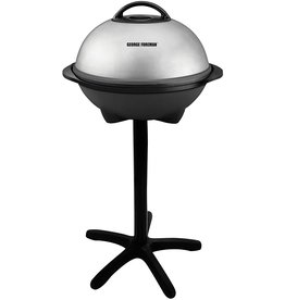 George Foreman George Foreman, Silver, 12+ Servings Upto 15 Indoor/Outdoor Electric Grill, GGR50B, REGULAR
