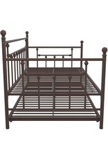 DHP DHP Manila Metal Framed Daybed with Trundle, Twin - Bronze