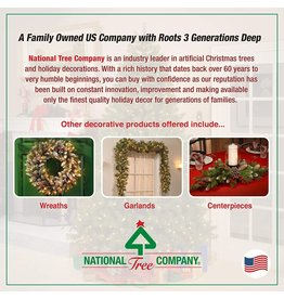 National Tree Company National Tree Company lit Artificial Christmas Tree  Includes Pre-strung White Lights and Stand  North Valley Spruce Blue-7.5 ft