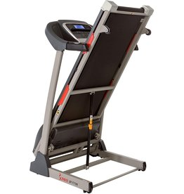 Sunny Health & Fitness Sunny Health & Fitness Portable Treadmill with Auto Incline, Device Holder, Pulse Grips, 220 LB Max Weight and Shock Absorbers - SF-T7705