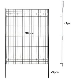 Hopesun Hopesun Decorative Garden Fence Fast Installation Multi-Purpose Metal Pet Fence Kit Outdoor