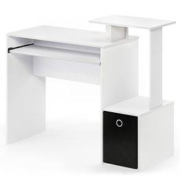 Furinno FURINNO Econ Multipurpose Home Office Computer Writing Desk, White/Black