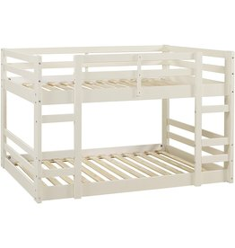 Walker Edison Walker Edison Alexander Classic Solid Wood Stackable Jr Twin over Twin Bunk Bed, Twin over Twin, White