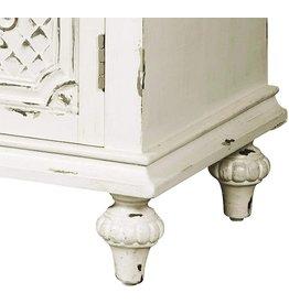Right2Home Pulaski Ornate Four Door White credenza