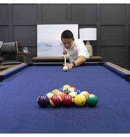 American Legend American Legend Brookdale 90 Billiard Table with Rustic Wood Finish and Navy Blue Cloth