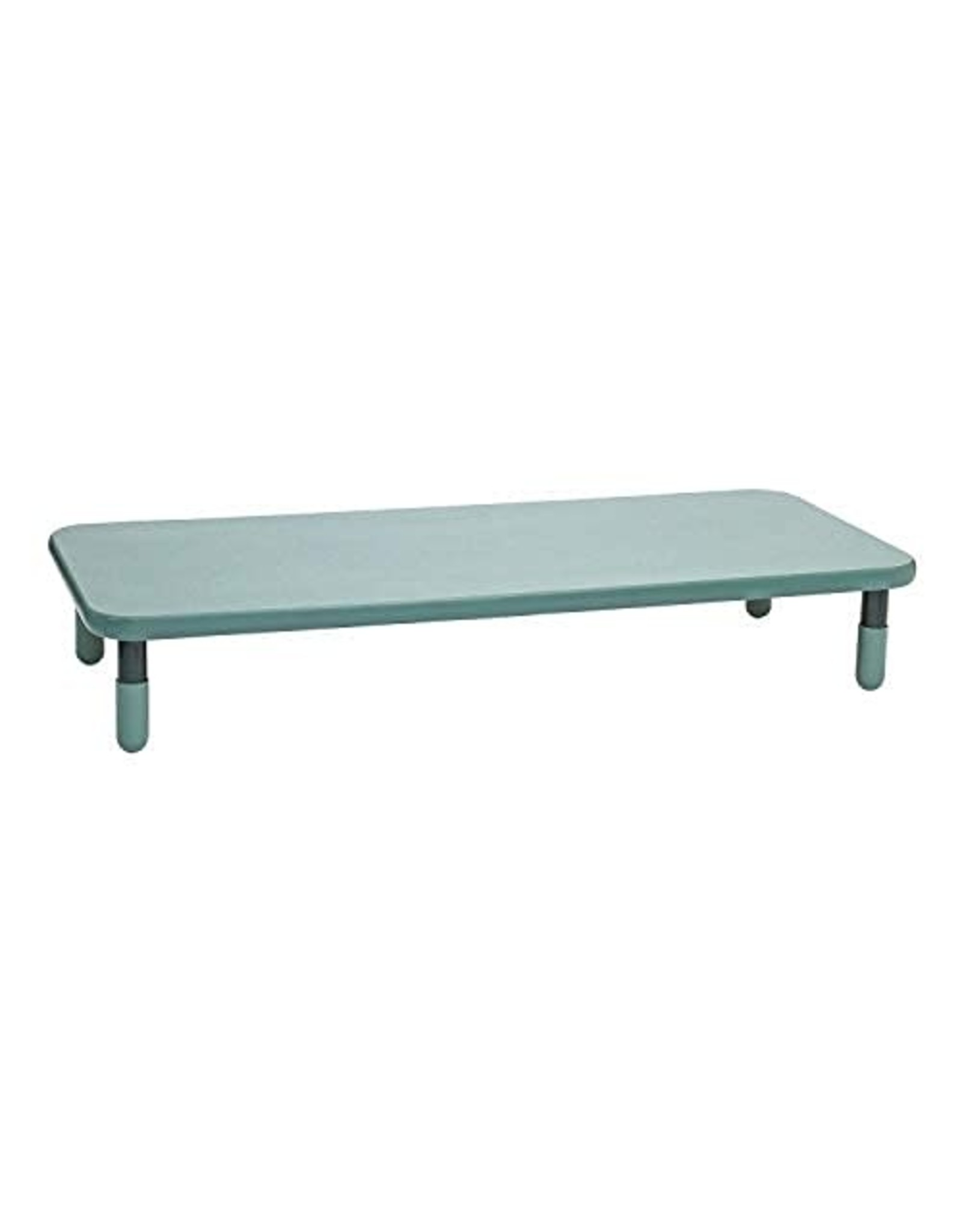 """Children's Factory Angeles Baseline 72""""x30"""" Rect. Table, Homeschool/Playroom Toddler Furniture, Kids Activity Table for Daycare/Classroom Learning, 12"""" Legs, Teal Grn."""