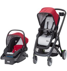 Safety 1st Safety 1st Riva 6 in 1 Flex Modular Travel System with Onboard 35 FLX Infant Car Seat and Base, Red Rocks