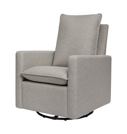 babyletto Babyletto Cali Pillowback Swivel Glider in Performance Cream Eco-Weave, Water Repellent & Stain Resistant, Greenguard Gold Certified