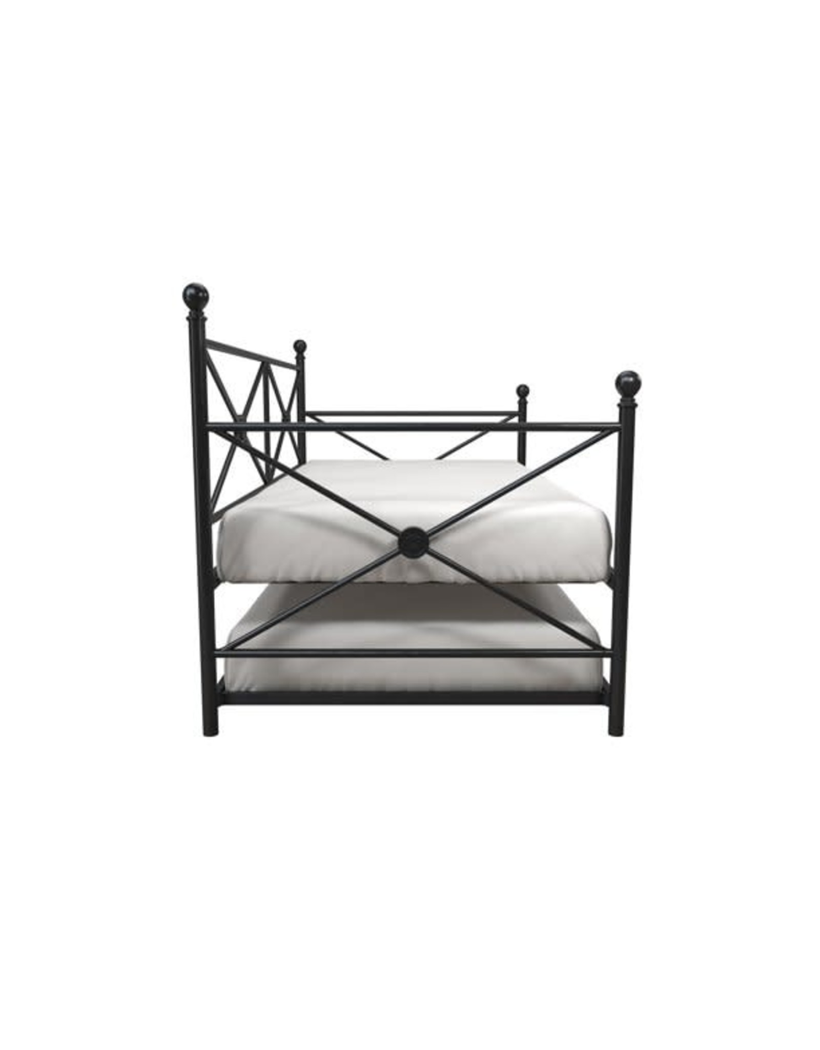 DHP Lubin Full Daybed and Twin Trundle, Black